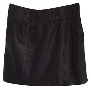7 For All Mankind Mini Skirt Onyx