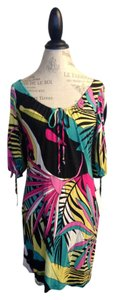 A.B.S. by Allen Schwartz short dress Bright abstract print Mini Fun Unique on Tradesy