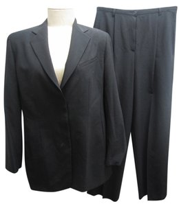 Giorgio Armani Giorgio Armani Virgin Wool Black 2 Piece Pant Suit Set Size 10