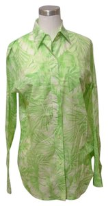 Lauren by Ralph Lauren Button Down Shirt Green Ultra