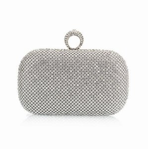 Diamond Finger Ring Evening Bags Clutch Purse