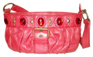 Cynthia Rowley Leather Studded Shoulder Bag