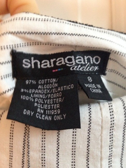 Sharagano Suit Cute Black And White White Black Skirt