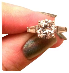 Sterling Silver CZ Three Stone Ring