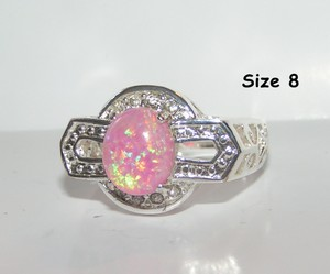 Pink Fire Opal Ring Free Shipping