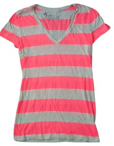 Nollie Striped Like New Cotton T Shirt Pink/off white