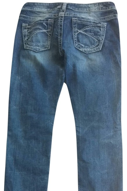 Silver Jeans Straight Leg Jeans-Distressed