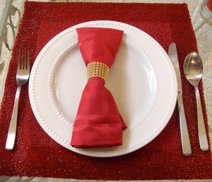 Gold Diy Custom Fit - 24 Rows X 30ft Table Napkin Ring Bing Bing 8 Colors Available Tableware