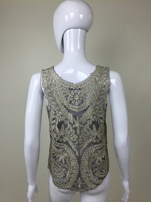 Other Shirt Lace Tan Top Black
