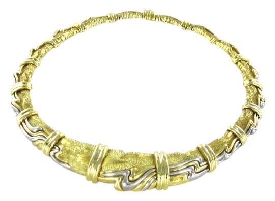 Henry Dunay Designs HENRY DUNAY 18KT SOLID YELLOW GOLD PLATINUM NECKLACE 148.9 GRAMS FINE JEWELRY