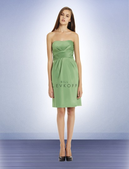 Bill Levkoff Eggplant Bl 578 Casual Bridesmaid/Mob Dress Size 4 (S)