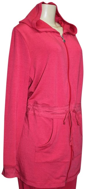 OSO Casuals Pink Coral Terrific Glamour Women's French Terry Two-piece Set (1x) Pant Suit Size 20 (Plus 1x) OSO Casuals Pink Coral Terrific Glamour Women's French Terry Two-piece Set (1x) Pant Suit Size 20 (Plus 1x) Image 1