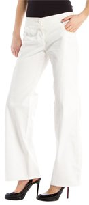 Chanel Wide Leg Flare Pants White
