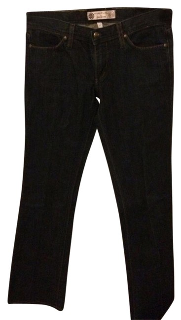 Habitual for Tory Burch Straight Leg Jeans-Dark Rinse