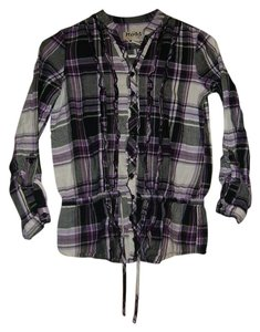 Mudd Button Down Shirt black/white/purple/grey