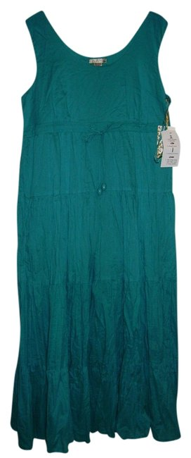 Preload https://img-static.tradesy.com/item/831105/teal-mid-length-casual-maxi-dress-size-16-xl-plus-0x-0-0-650-650.jpg