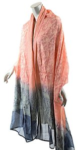 Other GORGEOUS Pink/Charcoal Ombre 100% Silk Jacquard Stole/Shawl/Wrap - 98