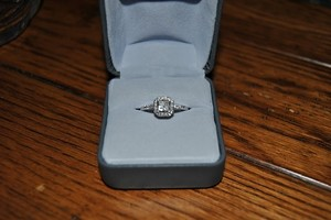 /White Gold 1/4 Kt Diamond Engagement Ring