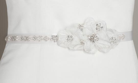 Floral Bridal Belt With Swarovski Crystals