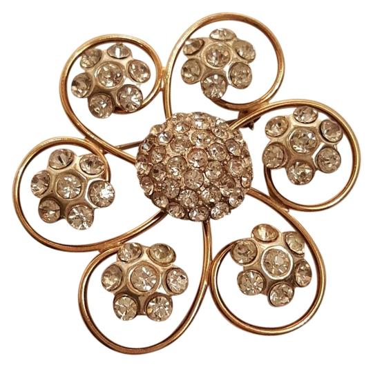 Ernest Steiner Original Two Tone Floral Crystal Brooch Pin Ernest Steiner Original Two Tone Floral Crystal Brooch Pin