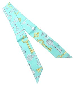 Tiffany & Co. Tiffany & Co. Multicolor Silk Keys Ribbon Scarf