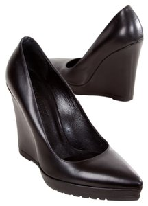 Sportmax Leather Ultra-high Black Wedges