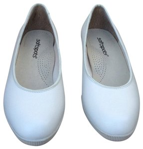 Softspots Leather Comfortable Cream Wedges