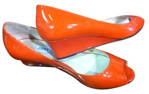 Jimmy Choo Orange Wedges