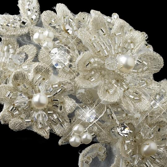 Elegance by Carbonneau Ivory Lace and Pearls Headband Hair Accessory