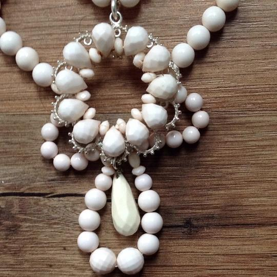 Banana Republic Statement Ivory Colored Bead Bibb Necklace