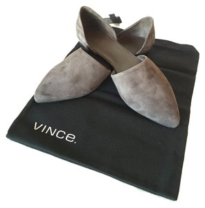 Vince Brown Suede Brand New Pointed Toe Umber (Brown) Flats