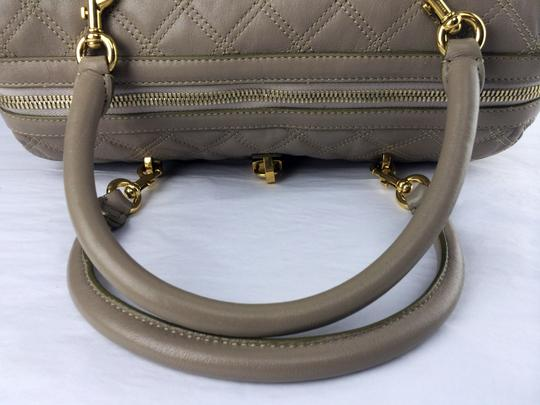 Marc Jacobs Quilted Leather Boston Satchel in grey