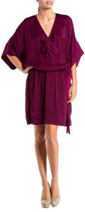 Lanvin short dress Purple Flower Elastic Waist on Tradesy