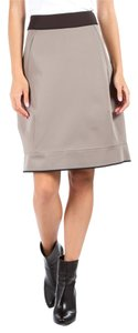 Marni Black Trim Skirt Khaki
