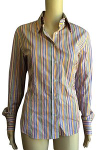 Etro Women Button Front Blouse Button Down Shirt multi-color