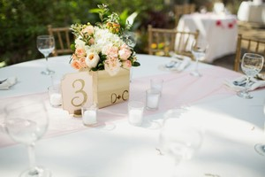 Pale Pink Peach Salmon Table Runners Set Of 6 Tablecloth
