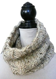 Handmade Classic Knit Cowl Neck Warmer / Everyday Cowl / Oatmeal / Available in 35 Colors