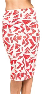 My Story Pencil Skirt Red/White