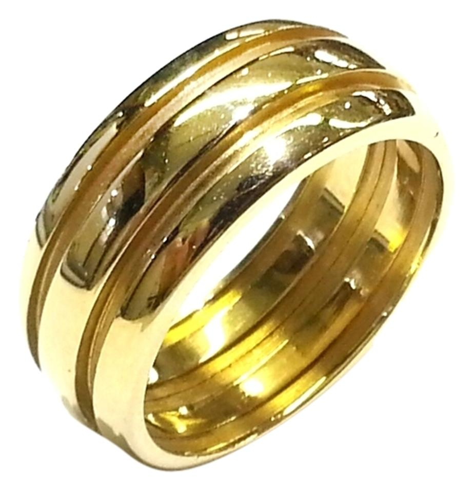 tiffany co atlas grooved dome 18 750 karat yellow gold band ring. Black Bedroom Furniture Sets. Home Design Ideas
