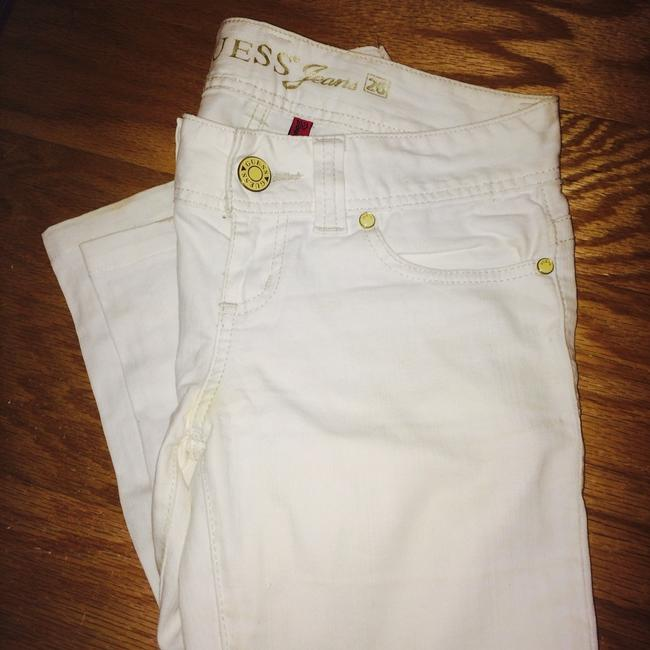 Guess White Skinny Jeans-Light Wash