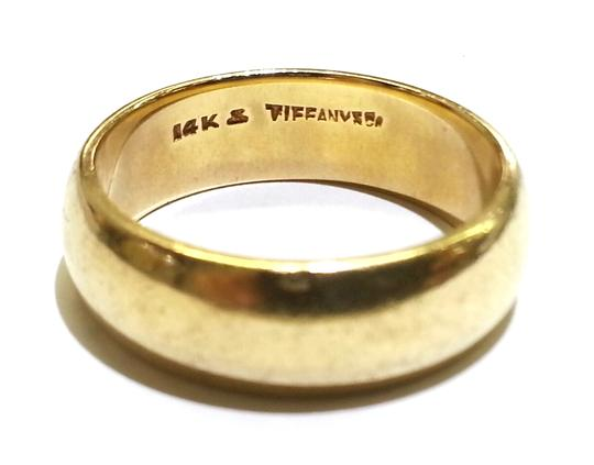 Tiffany & Co. Tiffany & Co Vintage 14 Karat Yellow Gold Men's Ring Band Size 9.5