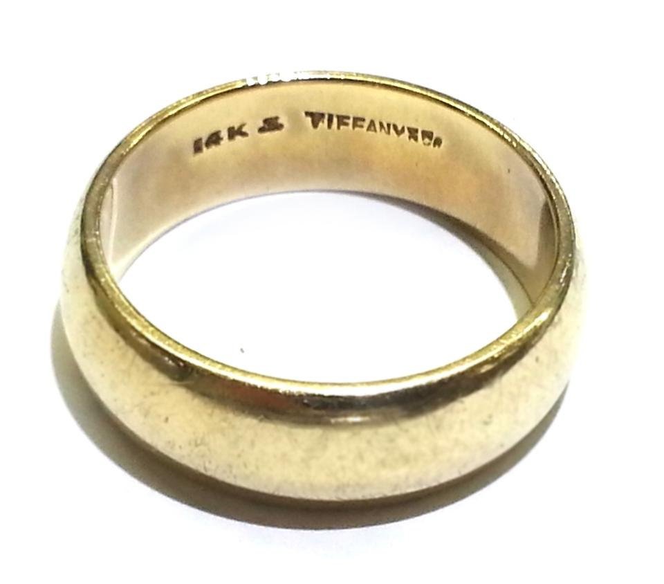Tiffany co co vintage 14 karat yellow gold men 39 s band for Tiffany mens wedding ring