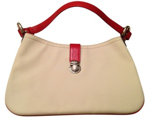 Marc Jacobs white with red trim Clutch