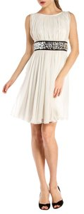 Dolce&Gabbana Creme Silk Chiffon Mini Dress
