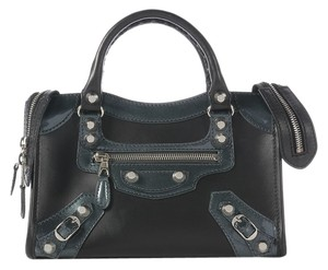 Balenciaga Black City Leather Cross Body Bag