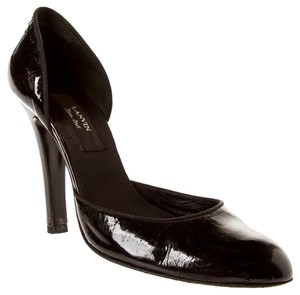 Lanvin Patent Leather D'orsay High Heels Black Pumps