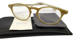Giorgio Armani NEW GIORGIO ARMANI GA 786 COLOR 1FT HONEY HORN ROUND PLASTIC EYEGLASSES FRAME