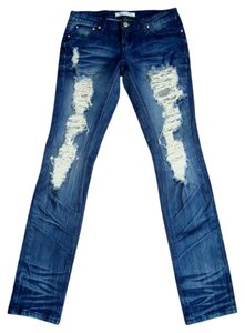 ZCo. Distressed Destroyed Skinny Jeans-Distressed