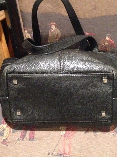 ROLFS GENUINE LEATHER Satchel in Black