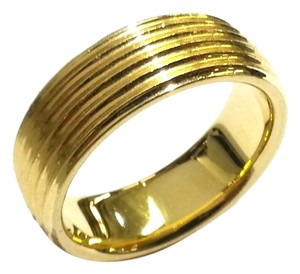 Tiffany & Co. Tiffany & Co Six-Row Ring Band in 18 (750) Karat Gold Size 5